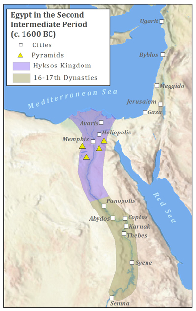 Ancient Egypt - Map of egypt during the new kingdom