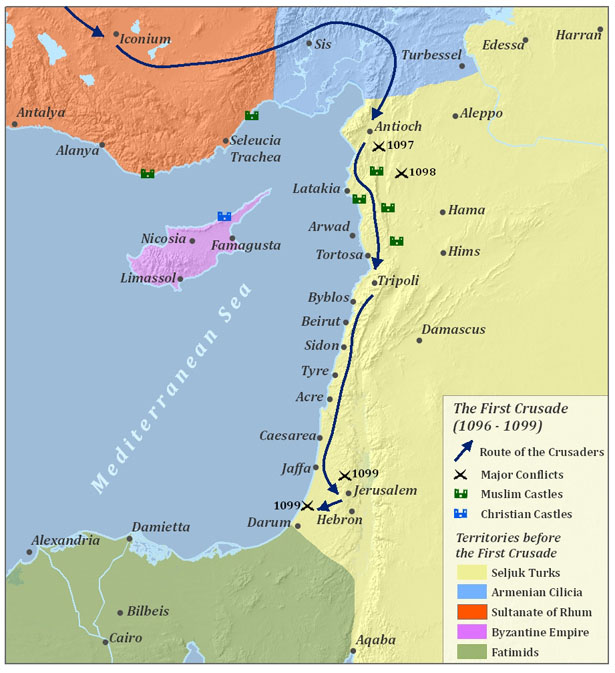 the crusades in the holy land