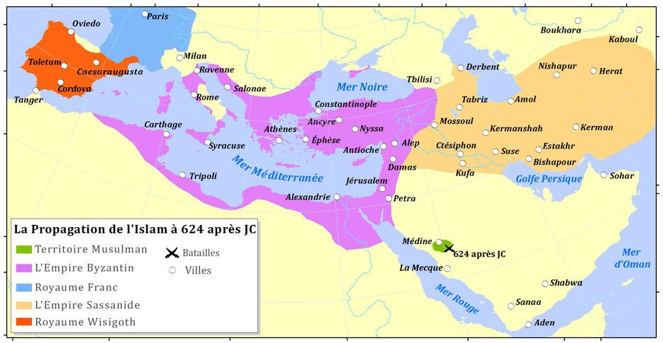 HISTOIRE ABRÉGÉE DE L'ÉGLISE - PAR M. LHOMOND – France - 1818 - DEUXIEME PARTIE ( Images et Cartes) Islam624Fr