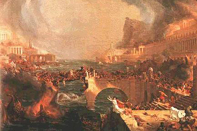 The Visigoths sack Rome