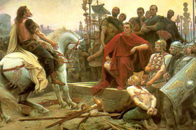 Caesar defeats the Gauls