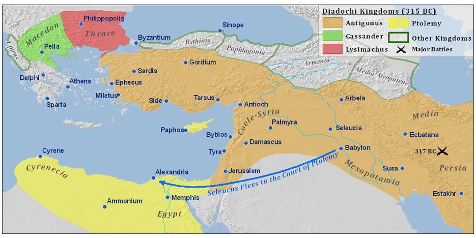 Antiochova říše na vrcholu moci