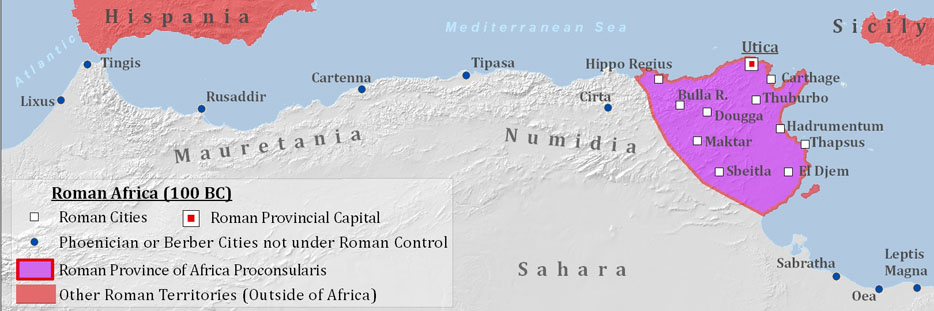 roman north africa map Roman Africa roman north africa map